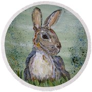 Bunny Rabbit Round Beach Towel