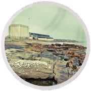 Burghead Distillery Round Beach Towel