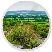 Burren National Park's Lovely Vistas Round Beach Towel