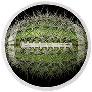 Cactus Football Round Beach Towel