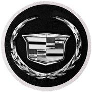 Cadillac Emblem Round Beach Towel