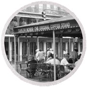 Cafe Du Monde French Quarter New Round Beach Towel