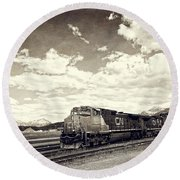 Canada Rail Round Beach Towel