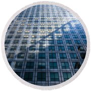 Canary Wharf Tower Round Beach Towel by David Pyatt