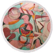 Candy Round Beach Towel