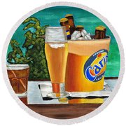 Caribbean Beer Round Beach Towel