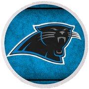 Carolina Panthers Round Beach Towel
