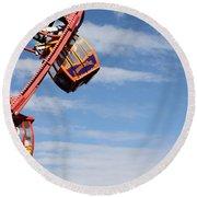 Carousel Twist Round Beach Towel by David Nicholls