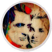 Cary Grant And Grace Kelly Collection Round Beach Towel