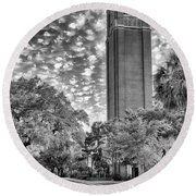 Century Tower  Round Beach Towel by Howard Salmon