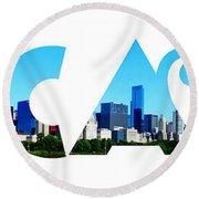 Chicago  Round Beach Towel