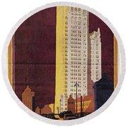 Chicago Poster, 1925 Round Beach Towel