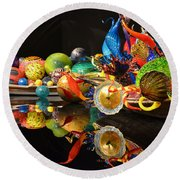 Chihuly-14 Round Beach Towel by Dean Ferreira