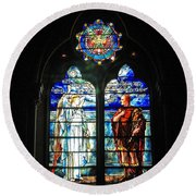 Church Of The Covenant Stained Glass 11 Round Beach Towel