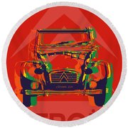 Citroen 2cv Round Beach Towel