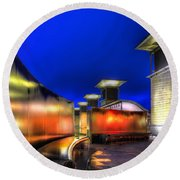 City Lights Round Beach Towel