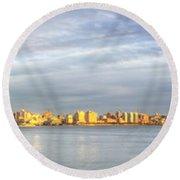 City Of Gold Round Beach Towel