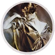 Cleo De Merode (1845-1931) Round Beach Towel