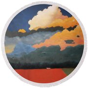 Cloud Rising Round Beach Towel by Gary Coleman