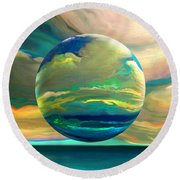Clouding The Poets Eye Round Beach Towel by Robin Moline