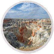 Coal Mine Mesa 14 Round Beach Towel