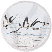 Coastal Skimmers Round Beach Towel