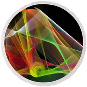 Color Symphony Round Beach Towel by Rafael Salazar