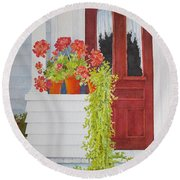 Come On In Round Beach Towel by Mary Ellen Mueller Legault