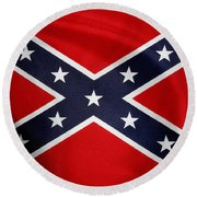 Confederate Flag 5 Round Beach Towel