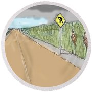 Coots Crossing Round Beach Towel