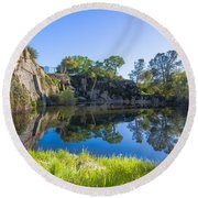Copp's Quarry Round Beach Towel by Jim Thompson