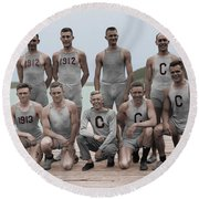 Cornell Varsity Rowing Team Round Beach Towel