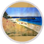 Cottesloe Beach Round Beach Towel by Therese Alcorn
