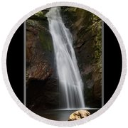 Courthouse Falls North Carolina Round Beach Towel