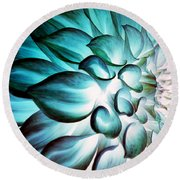 Dahlia Flower Round Beach Towel