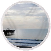 Round Beach Towel featuring the photograph Daybreak At Pawleys Island by Frank Bright