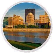 D4u-379 Dayton Skyline Photo Round Beach Towel