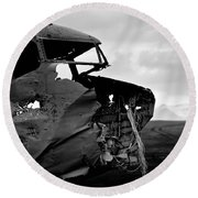 Round Beach Towel featuring the photograph Dc 3 Iceland by Gunnar Orn Arnason
