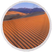 Death Valley National Park, California Round Beach Towel