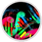 Round Beach Towel featuring the digital art Dna Dreaming 7 by Russell Kightley