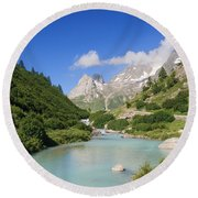 Dora Stream. Veny Valley Round Beach Towel