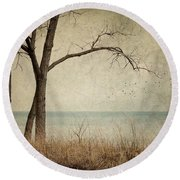 Drifting Round Beach Towel by Amy Weiss