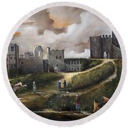 Dudley Castle 2 Round Beach Towel