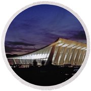 Dulles International Round Beach Towel by Greg Reed