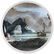 Durdle Door - Dorset Round Beach Towel
