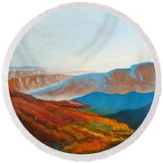 East Fall Blue Ridge Mountains 2 Round Beach Towel