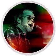 Elton John Round Beach Towel