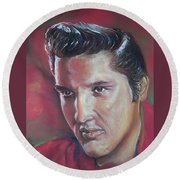 Elvis Round Beach Towel by Peter Suhocke