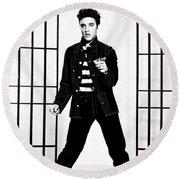 Elvis Presley Round Beach Towel by Doc Braham