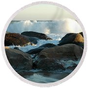 End Of The Day Round Beach Towel by Christiane Hellner-OBrien